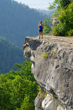 Tomasovsky Vyhlad viewpoint in Slovak Paradise Royalty Free Stock Image