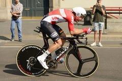 Tomasz Marczynski konkurent przy wysoką prędkością przy Giro 2017, Mediolan Fotografia Stock