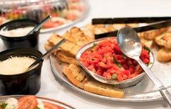 Tomat, bröd och ost Royaltyfria Bilder