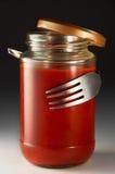 tomat för anstrykningsåsspagetti Royaltyfri Bild