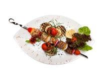tomat för auberginecitronsteknålar Royaltyfri Foto
