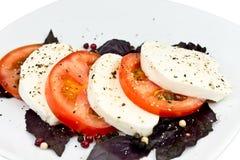 tomat för basilikamozzarellasmaktillsats Royaltyfri Bild