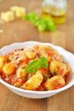 tomat för gnocchipotatissås royaltyfri foto