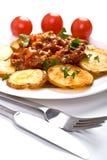 tomat för meatpotatissås Arkivfoto