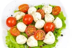 tomat för mozzarellapepparsallad Fotografering för Bildbyråer