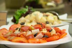 tomat för ostfetasallad Arkivbilder
