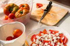 tomat för ostfetasallad Royaltyfri Foto
