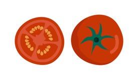 Tomat isolerad illustration Stock Illustrationer