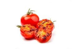 Tomat, når att ha grillat Arkivbild