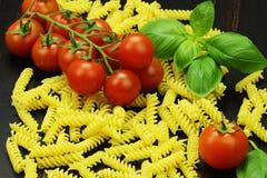 Tomat och pasta Arkivbild