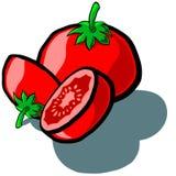 Tomat och skiva Royaltyfri Fotografi