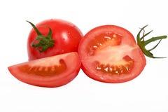 Tomat på white Fotografering för Bildbyråer