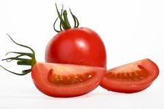 Tomat på white Royaltyfri Fotografi