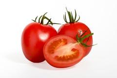 Tomat på white Royaltyfria Bilder
