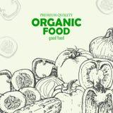 Tomat peppar, gurka, lökar Vektorbakgrund med grönsaker royaltyfri illustrationer