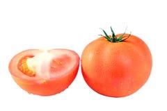 Tomat som isoleras på vit bakgrund Arkivfoton