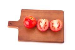 Tomat som isoleras på vitbakgrund Royaltyfri Foto