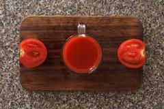 Tomatdropp arkivbild