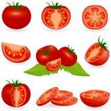 Tomate ajustado do ícone Imagem de Stock Royalty Free