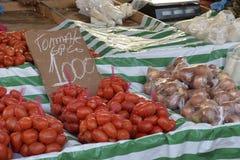 Tomate au marché en plein air Photographie stock