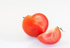Tomate auf weißem Hintergrund Stockfotografie