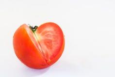 Tomate auf weißem Hintergrund Lizenzfreies Stockfoto
