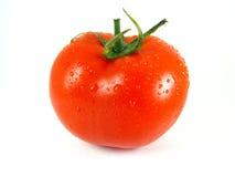 Tomate avec des gouttelettes d'eau Image libre de droits