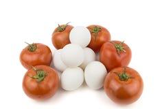 Tomate avec des oeufs Photos stock