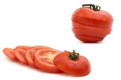 Tomate avec le branchement vert, Photo libre de droits