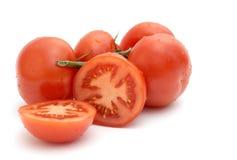 Tomate avec le branchement vert, Image libre de droits