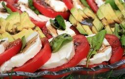 Tomate, Basilikum und Mozzarella Lizenzfreies Stockbild