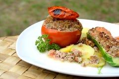 Tomate bourrée Photographie stock