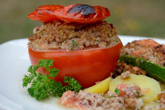 Tomate bourrée Photos libres de droits