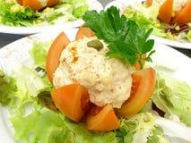 Tomate bourrée avec le thon 2 Photographie stock libre de droits