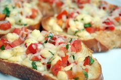 Tomate Bruschetta Foto de Stock Royalty Free