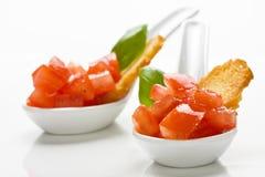 Tomate bruschetta lizenzfreies stockfoto