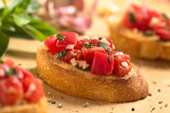 Tomate Bruschetta Fotos de Stock Royalty Free