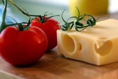 Tomate com queijo 2 Fotografia de Stock Royalty Free