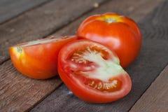 Tomate coupée en tranches photographie stock libre de droits