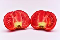 Tomate coupée en tranches organique Images libres de droits