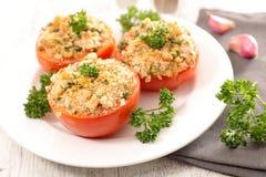 Tomate cuite au four Photographie stock