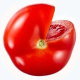 Tomate d'isolement sur le blanc Avec le chemin de coupure Image libre de droits