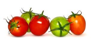 Tomate d'isolement sur le fond blanc images stock