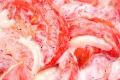 Tomate da salada com cebola Fotos de Stock