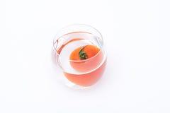 Tomate dans un verre Image libre de droits