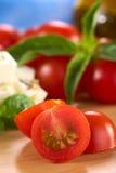 Tomate de cereja cru Fotografia de Stock