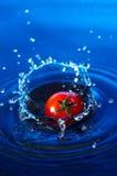 Tomate de cereja na água Foto de Stock Royalty Free