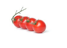 Tomate de cereja quatro orgânico fotos de stock royalty free