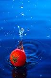 Tomate de cereza en water1 Fotos de archivo