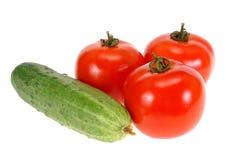 tomate de concombre Image libre de droits